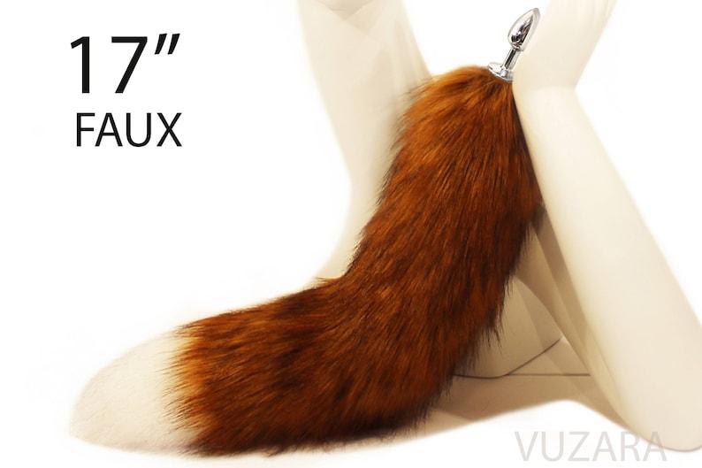tail butt plug bdsm butt plug dildo tail plug fox tail plug image 0