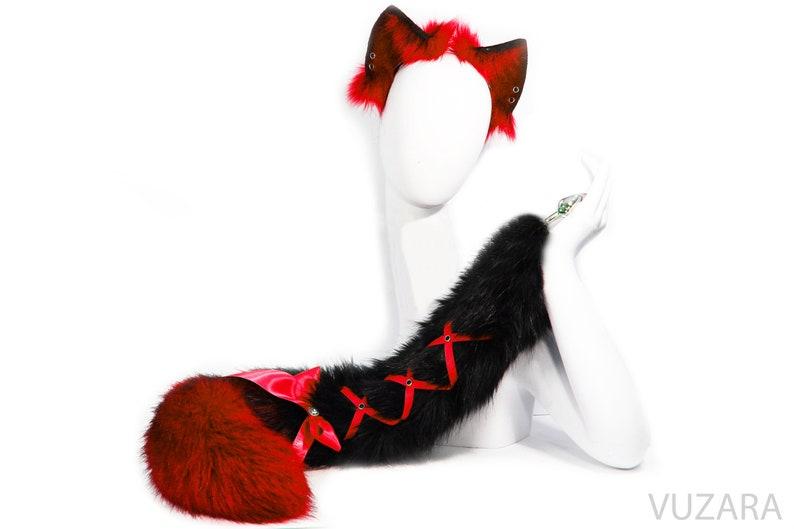 3d25475cf43 Tail butt plug bdsm butt plug dildo black cat tail plug black