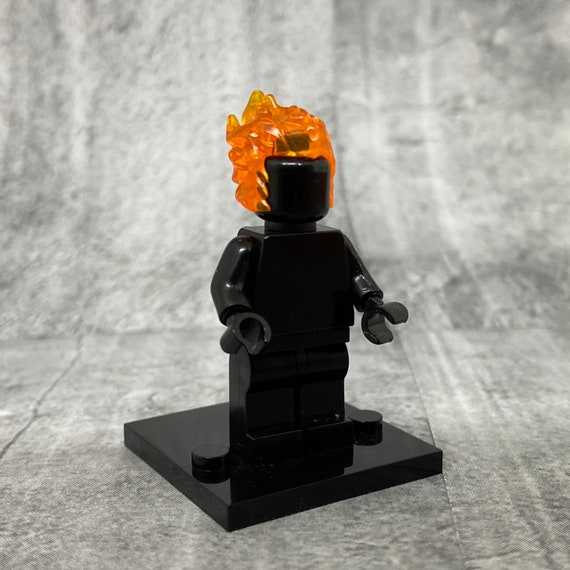 Headgear Head Cover Minifigure Trans-Orange Flame Head Piece LEGO