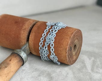 Handmade tatted lace necklace, choker, bracelet, hair accessories, anklet, multiway, with origami gift packaging included