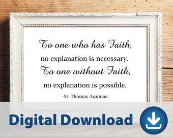 Inspirational Phrase Digital Download // St. Thomas Aquinas // Printable // Instant Download  // Catholic // Christian // Saint Quote