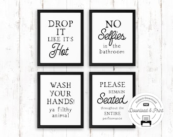 Exceptionnel Bathroom Wall Quotes | Etsy