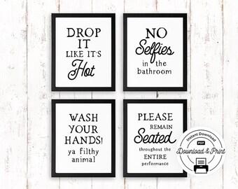 Funny bathroom signs | Etsy