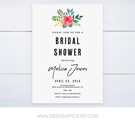 It's just a picture of Printable Bridal Shower Invitations with regard to etsy