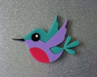 Holly the Hummingbird Brooch