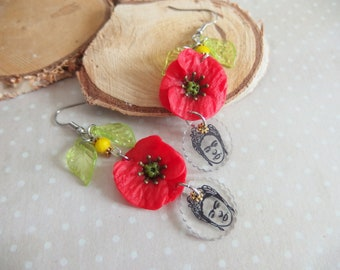 Poppy earrings / Frida Kahlo