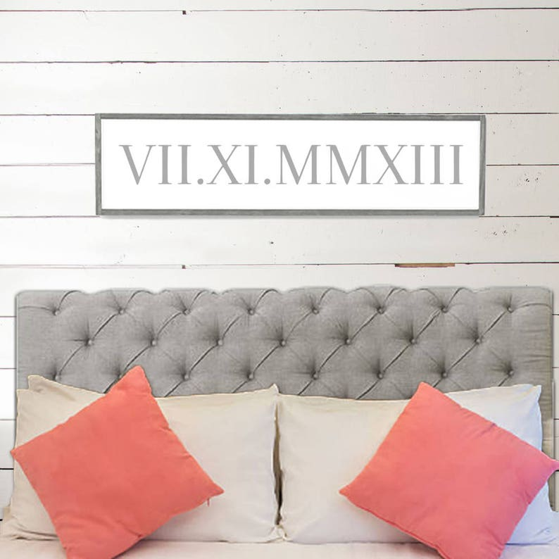 Roman Numeral Wedding Wood Sign Home Decor Wood Signs Etsy