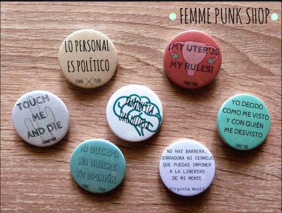 Pack De Chapas Con Frases Feministas 38 Mm