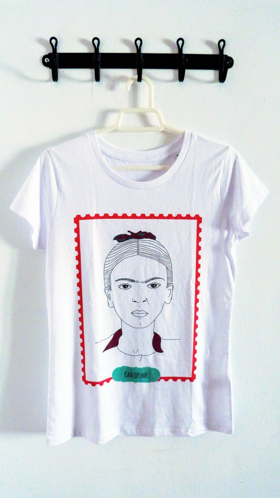 ECO Camiseta feminista algodón orgánico Frida Kahlo | Etsy