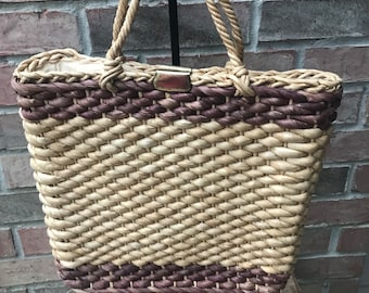 c78aeae34883 Straw Purse - Magid - Made in Italy - Vintage Purse