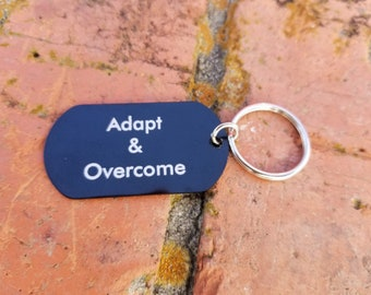 """Personalized Engraved 2"""" Stainless Steel Dog Tag with Keyring, Sports Dog Tag, Dog Tag for Men, Dog Tag Necklace, Wedding Gift, Pendant"""