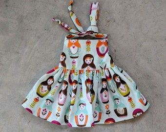 Modern Doll Clothes - Nesting Doll Halter Dress