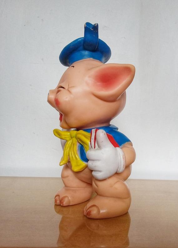 Former Toy past pouet pouet Pig blue overalls Walt Disney vintage productions circa 1960
