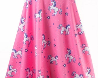 Unicorn Stretch Jersey Knit Fabric - Dressmaking - Leggings - Pyjamas - Tops