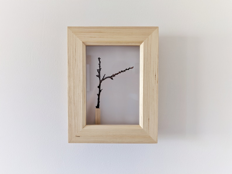 Frozen Spring  Wall Art with Tree Branch  Natural Wall Art Piece A
