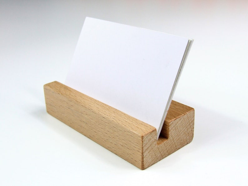 Business Card Stand available in beech walnut and pine / Beech - Faggio