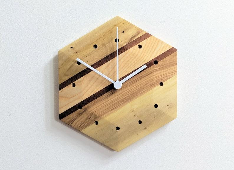 Modern Geometric Wall Clock Hexagonal Design Clock B