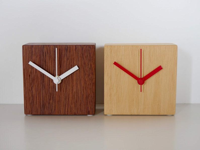 Wooden Contemporary Desk Clock image 0