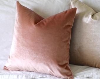26x26 Blush Velvet Pillow Cover   26x26 Belgium Velvet   26x26 Light Pink  Pillow   Pink Throw Pillow   Rose Quartz Pillow Cover -VEL5 fabd60b849