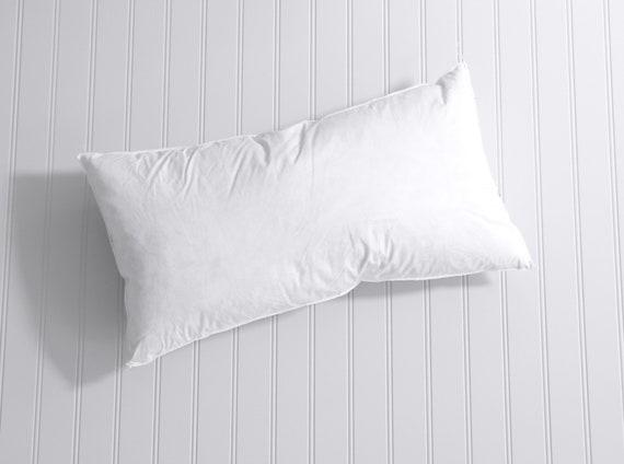 Down Lumbar Pillow Insert Soft Pillow Form Feather Pillow Etsy Classy 12 X 21 Pillow Insert