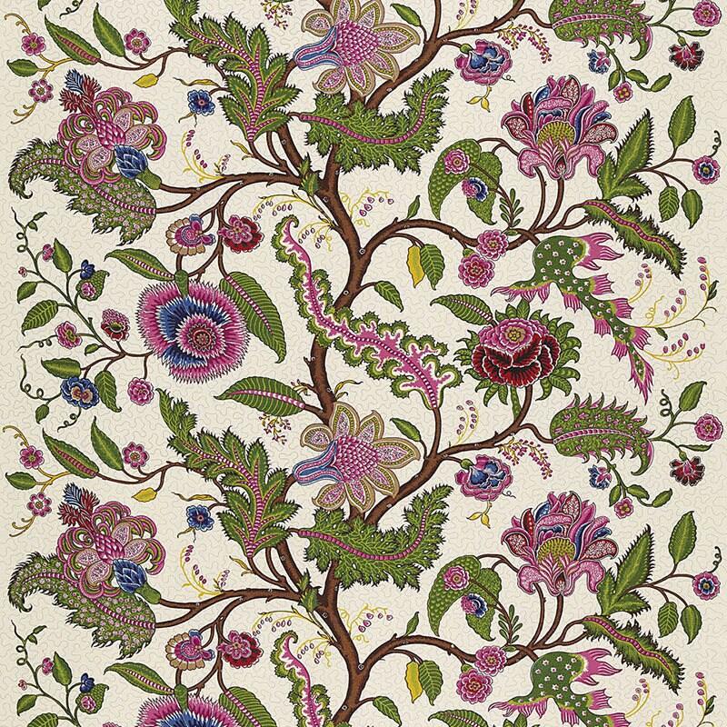 Tissu en lin Schumacher cinghalais cinghalais cinghalais par la Cour / bijou ton Decor / Français Tissu Cachemire / Designer Home Decor ffe609