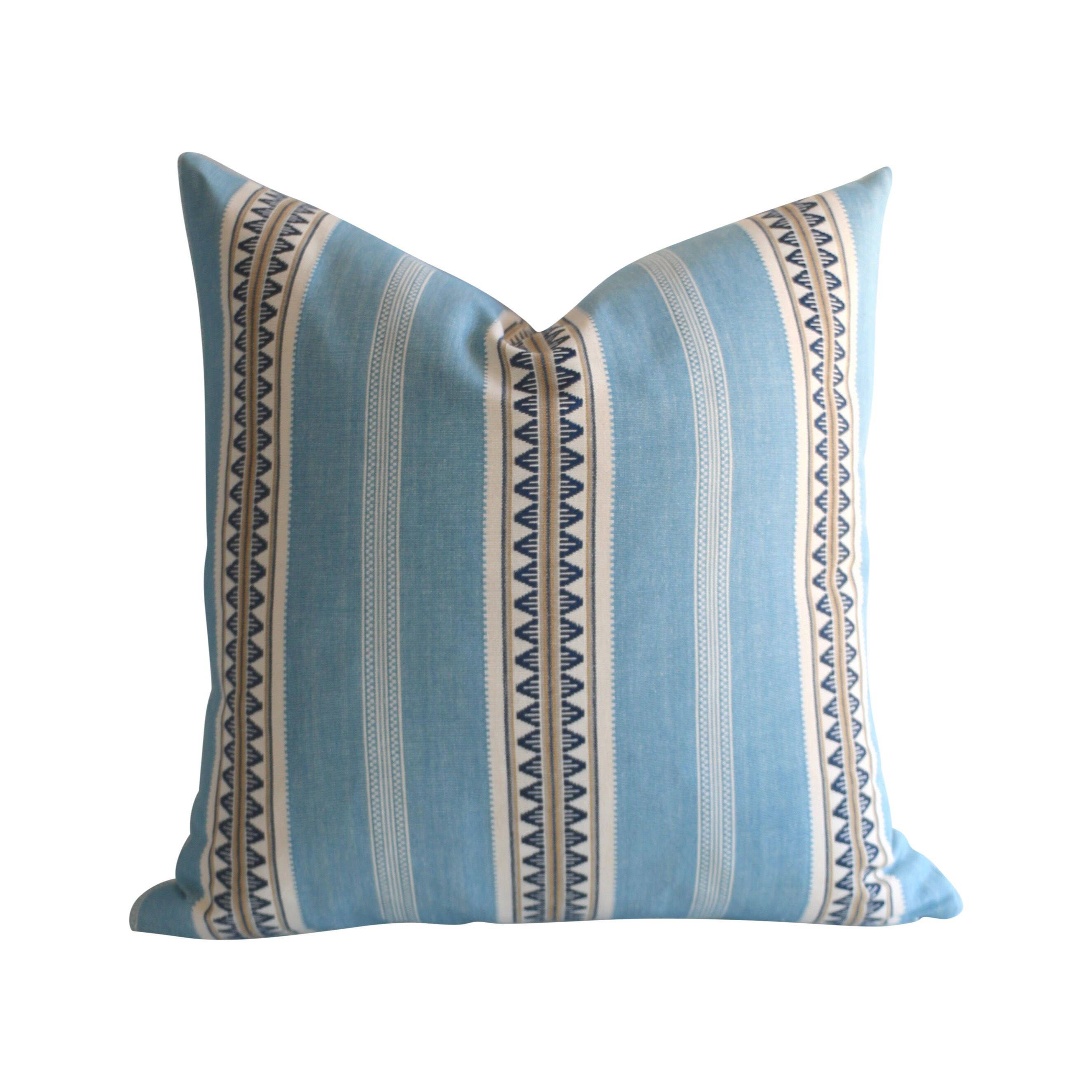 Aqua Boho Pillow Cover Pillow Cover28 X 28 28x28 Euro Etsy