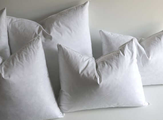 22x22 Pillow Insert Custom 60x60 Down Pillow Inserts Quality Pillow Inserts Feather Etsy