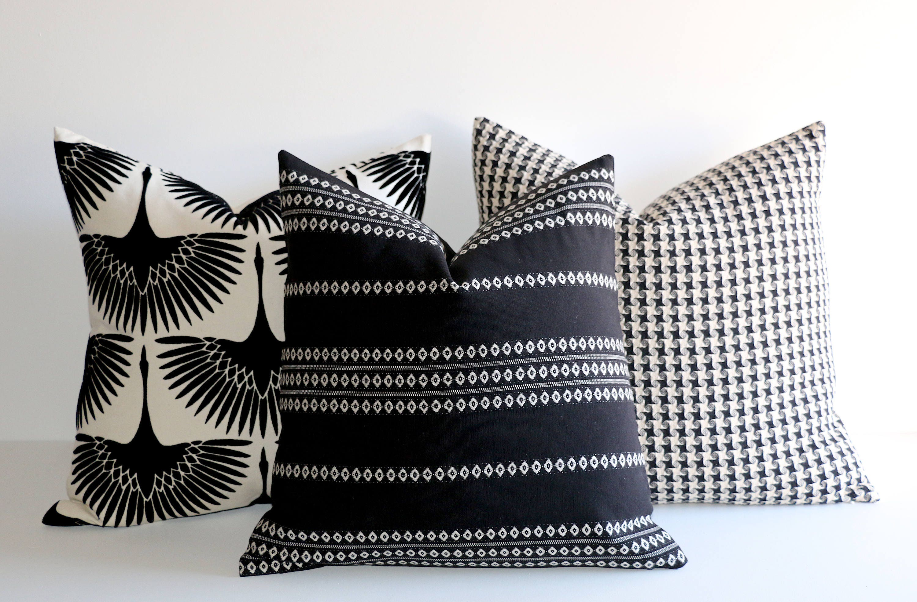 Onyx Collection Throw Pillow Covers 20x20 More Sizes Etsy