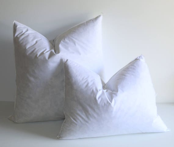 40x40 Down Pillow Inserts Quality Pillow Inserts Feather Etsy Mesmerizing 14x18 Pillow Insert