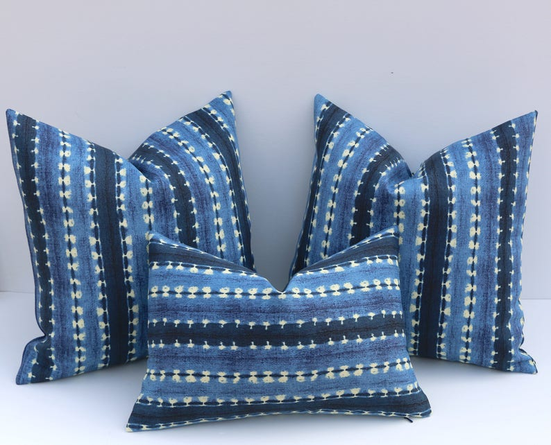 Outdoor Pillow Covers Royal Blue Pillow Covers Mudcloth Pillow