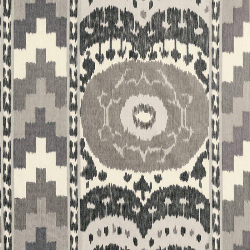 Schumacher SAMARCANDE II IKAT tissu au mètre mètre mètre / Grey Ikat Decor / Ikat Batik / Designer Home Decor tissu db4b69