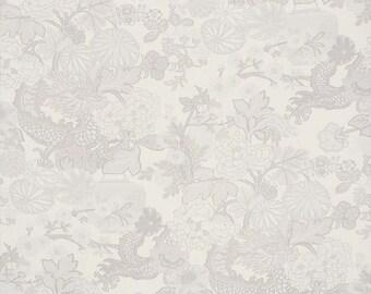 "Schumacher Chiang Mai Dragon ""Limestone"" Fabric by the Yard"