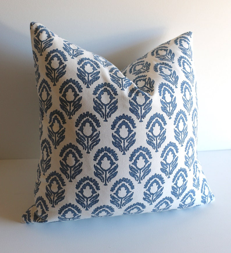 Blue Throw Pillow Covers 12x18 & More