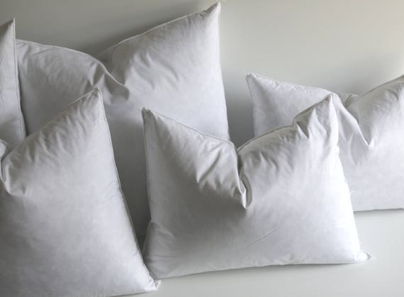 40x40 Down Pillow Inserts Quality Pillow Inserts Feather Etsy Awesome 23x23 Pillow Insert