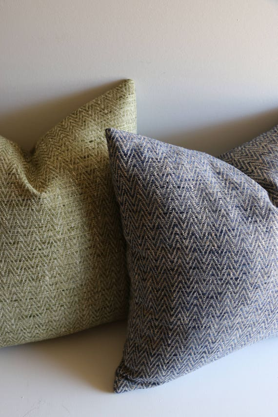 Textured Pillow Cover Blue Green Or Red Pillow Cover 40x40 Etsy New Etsy Pillow Covers 20x20