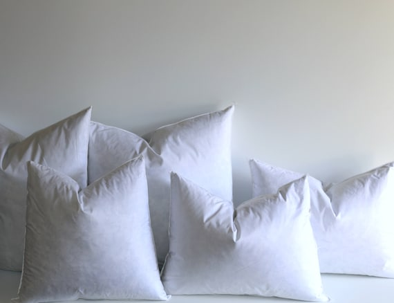 Down Pillow Inserts Quality Pillow Inserts 40x40 Feather Etsy Unique 14x18 Pillow Insert