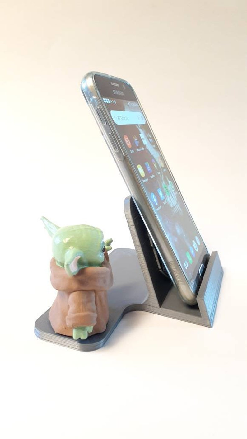 The Child Star Wars Baby Yoda The Mandalorian Phone Holder Star Wars Day May the 4th be with you