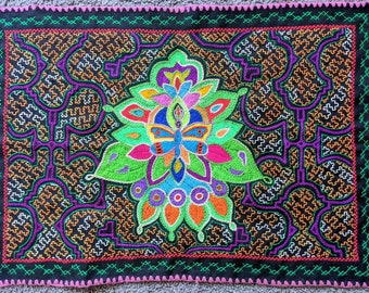 Altar Cloth  BUTTERFLY transformation  SHIPIBO handmade embroidery tapestry