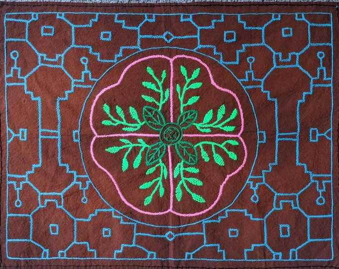 Reduced Price! SHIPIBO AYAHUASCA vine Cloth Maya KENE inspired fabric for sacred altar
