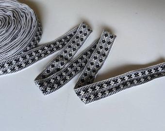 100 cms / 1.09 Yd Andean INKA PERUVIAN Bohemian wool woven ribbon  Handmade by loom 1.25 in / 3 cm