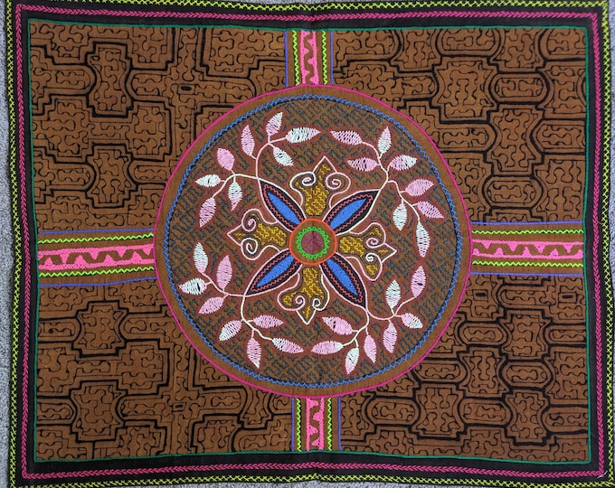 SHIPIBO tapestry FOUR DIRECTIONS inspired on  Ayahuasca vine  shrine altar sacred cloth