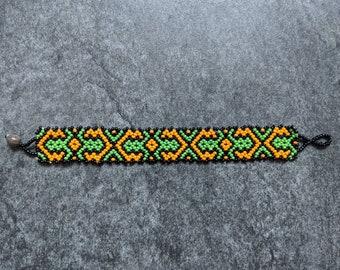 BEADED SHIPIBO BRACELET Kene Amazon tribal design