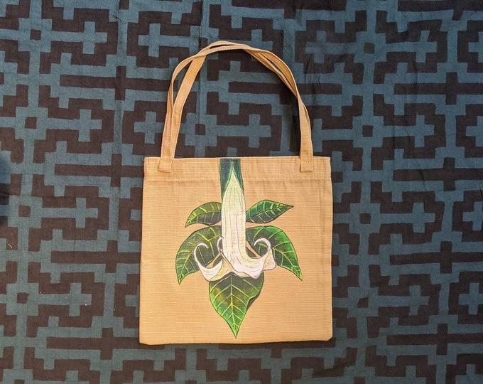 BOHO Shopping bag handpainted TOE Amazonian plant medicine