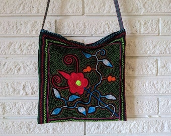 AYAHUASCA MEDICINE BAG  fully embroidered  Amazonian  plant medicine Aya handbag for spiritual shamanic  healing tools
