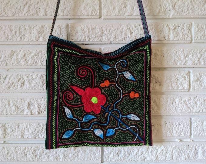 SHIPIBO crossbody bag fully embroidered  Amazonian AYAHUASCA  plant medicine