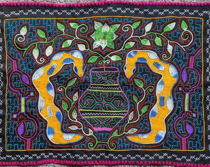SHIPIBO AYAHUASCA Divine  TAPESTRY one of a kind sacred Anaconda shrine altar cloth
