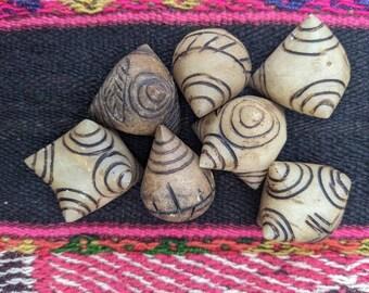 Andean Chakras Marble STONE INKA QERO ñawi  Chumpi Khuya