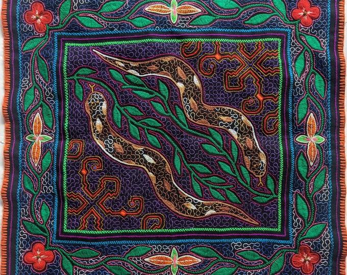 SHIPIBO SNAKE tapestry Spirit Animals RONIN cosmic Anaconda Yacumama inspired on  Ayahuasca vine vision shrine altar sacred cloth