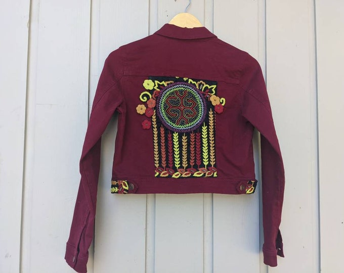 Reworked UPCYCLED SHIPIBO denim jacket  women's size small