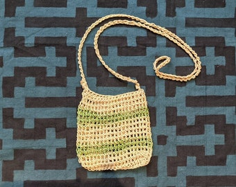 HEMP small HANDBAG market bag  ecofriendly crossbody handmade with  CHAMBIRA fibers boho hippie